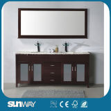 Hot Wood Bathroom Furniture with Good Quality (SW-WD1012L)