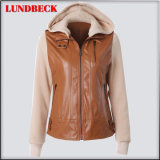 Best Sell Women′s PU Jacket for Outer Wear