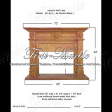 Qy Gold Stone Fireplace for Home Decoration Mfp-362