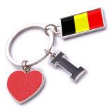 New Custom Metal Souvenir Belgium Keyring