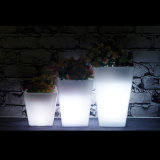 Waterproof LED Illuminated Plastic Garden Flower Pot