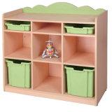 China Kindergarten Furniture MDF Toy Storage Cabinet for Preschool Classroom