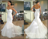 Strapless Wedding Gown Lace Mermaid Bridal Wedding Dress M3216