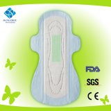 Night Ultra Thin Lady Anion Cotton Sanitary Napkin with Wings