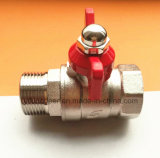Female&Male Butterfly Handle Nickeling Ball Valve