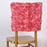 China Supply 3D Rosette Embroidery Chavira Chair Cover