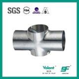 Pipe Fittings Stainless Steel Sanitary Long Welded Cross