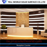 Custom Build Large Size Concable Reception Counter Bank Counter Design