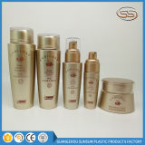 Baby Used Golden Color Lotion Toner Cream Pet Plastic Cosmetic Bottle Set