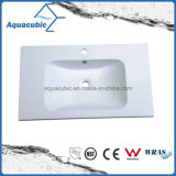 Factory Clean Bathroom Wash Basin Sink Polymarble Basin