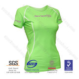 Lycra Short Sleeve Top with Women Rash Guard and UV Protection 50+