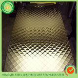 KTV Wall Decoration Building Materials 304 201 Diamond Stamping Stainless Steel Sheet Price Per Kg in Saudi Arabia