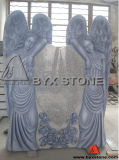 American Angel Carved Monument / Headstone with Antique Finished