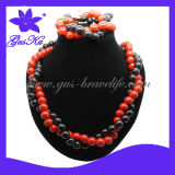 Classic African Beads Jewelry Set (2015 Gus-Tmn-038)