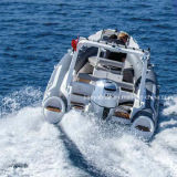 Liya 19ft Semi-Rigid Fiberglass Hull Inflatable Rib Boat Sale