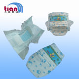 PE Backhseet with PP Tape Disposable Baby Diapers Factory in China