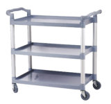 Plastic Three Layers Service Trolley for Restaurant (FW-64)