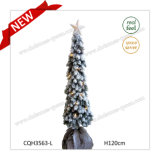 H120cm Pre-Lit Artificial PE Plastic Garden Decoration Christmas Tree
