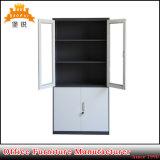 High Quality Popular Swing Glass Door Metal Office Furniture File Cabinet Cupboard