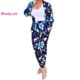 Tailored Suit Floral Print Button Sportswear Sports Wear Yoga Bra