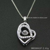 Wholesale 925 Sterling Silver Jewelry, Wedding Engagement Necklace with Dancing Stone Diamond
