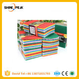 Sponge Scouring Pads with Abrasive Layer Synthetic Fiber