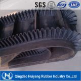 Corrugated Sidewall Cleated Rubber Conveyor Belt Used in Dustrial