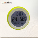 Round Shape Touch Screen Digital Timer with Temperature and Humidity