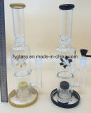 2017 Newest Glass Smoking Water Pipe with Nice Windmill Perc