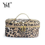 Leopard Print Leather Cosmetic Case