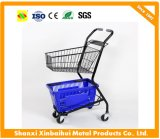 Double-Deck Handling Basket Trolley Double Layers Shopping Cart
