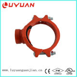 "FM/UL Ductile Iron Clamp with Fnpt Branch, 1-1/4""*1/2"""
