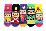 Womens Cotton Ankle Happy Socks with Poker Face (WA0291)