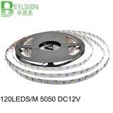 120LEDs/M LED Strip Light 5050 SMD RGB/Ww DC12V IP33