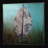 Modern Hand Painted Home Decor Artwork Oil Painting on Canvas One Big Leaf (LH-009000)