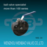 1PC Italy Carbon Steel Wcb Wafer Ball Valve with Handle