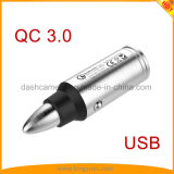 Bullet Shape Design QC3.0 Quick Car Charger for iPhone, Android Phone, Tablets, iPad