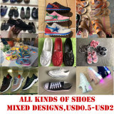 Mixed Design Cheaper Price Stock Footwear Sports Shoes