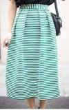 Wholesale Fasion Knitted Striped Women Skirts