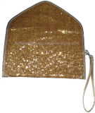 Ladies Metallic Paillette Clutch Bag (A0499)