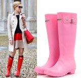 New Design Solid Color Women Rain Boots Girls Fashion PVC Rain Boots