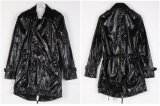 2013 Black Men's Hodded Medium Dust Coat (D14)