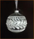 8cm Clear Christmas Glass Ball