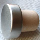 Matte Silver Aluminum Top Synthetic Cork for Vodka