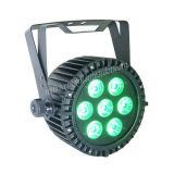 7PCS 15W Rgbaw Waterproof LED PAR Light