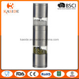 Ceramic Mechanism Stainless Dual Manual Salt and Pepper Mill