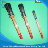 122b Black Bristle Round Brush with Wooden Handle, Paint Brush