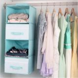 Wardrobe Inside Garment Fabric Hanging Organizer with Storage Drawer