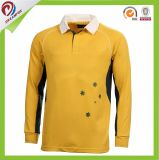 China Factory Special Design Custom Sublimation Rugby Polo Long Sleeve Jersey
