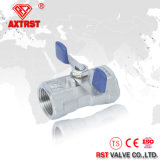 """1/4"""" One Piece CF8m Ball Valve with Butterfly Handle"""